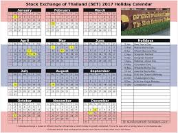 Market Holidays Stock Exchange Of Thailand 2017 2018 Holidays Set Holidays