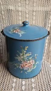 pot de chambre b grand broc émaillé xix ème à décor de fleurs japy antique