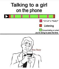 Talking On The Phone Meme - 20 funny video timeline charts pleated jeans