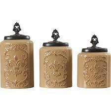 brown canister sets kitchen design guild 3 kitchen canister set reviews wayfair