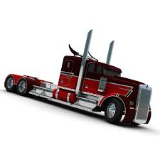 kenworth truck and trailer trailer w900 3d model