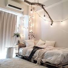 White Twinkle Lights Bedroom The Pallet Bed The Lights The Branch The Colors Everything