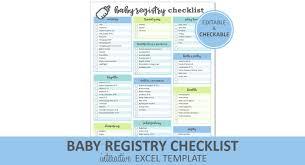 bridal registry checklist printable baby registry checklist editable blue printable excel