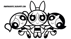 Charming Beautiful Free Cartoon Powerpuff Girls Coloring Pages For Power Puff Coloring Page