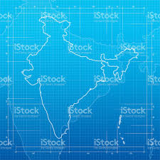 Mumbai India Map by India Map On Blueprint Background Stock Vector Art 529397334 Istock