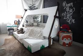 homemade toddler bed diy toddler bed in shape of a tent kids teepee trundle bed