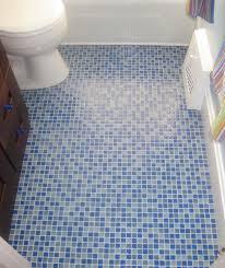 Bathroom Ocean Blue Mosaic Floor Tiles Design Ideas Intended For - Bathroom floor tiles design