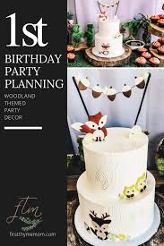 how to plan a woodland themed 1st birthday party u2014 first thyme mom