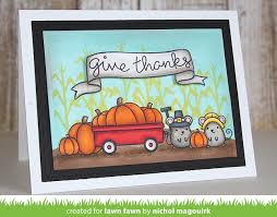 papyrus thanksgiving cards lawn fawn happy harvest bannerific stitched rectangle