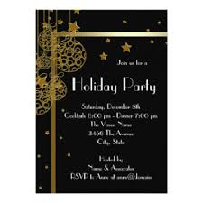 black tie christmas party invitations u0026 announcements zazzle