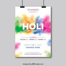 design poster buy holi festival party poster in realistic design vector free download