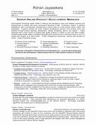 product development manager resume sample free software engineer and project manager resume example software