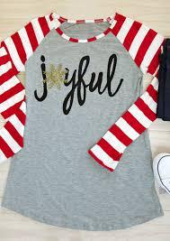 snowflake joyful long sleeve baseball t shirt bellelily