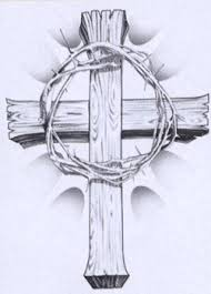 t shirt wooden cross and crown of thorns cutting edge ministries
