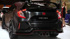 Honda Civic Type R Horsepower Honda Shows Super Aggressive 2018 Civic Type R Prototype At Paris