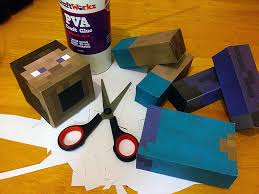 minecraft paper model steve jpg