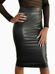high waisted skirt faux leather high waist skirt the sheek boutique