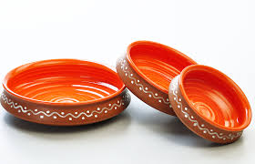 terracotta and orange urli serving set set of 3 from the