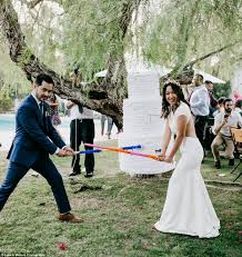 california couple had a wedding piñata instead of a cake daily