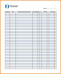 free printable check register template 6 check ledger template printable ledger entries