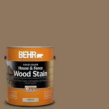 Home Depot Behr Stain by Behr 1 Gal Sc 153 Taupe Brown Solid Color House And Fence Wood