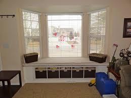 Kitchen Bay Window Ideas Mesmerizing Bay Window Seating Bench With Storage Images