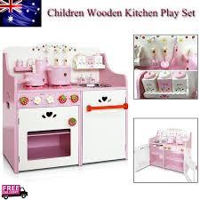 auãÿenleuchten design wooden kitchen pretend play set children cooking home