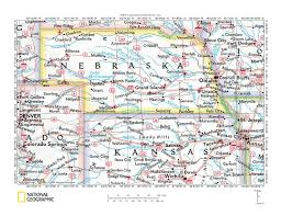 Nebraska State Map by Armchair America Nebraska Through Books Rosemary U0027s Blog