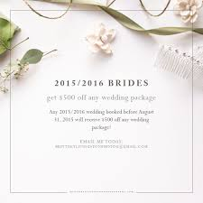photography wedding packages 2015 2016 wedding package promotion livingston