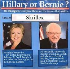 skrillex bernie or hillary know your meme