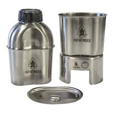 stainless steel canteen cooking kit military canteen kit