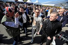 conor mcgregor flouts dress code at grand national daily mail online
