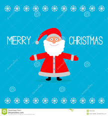 santa claus and snowflakes merry chr stock vector