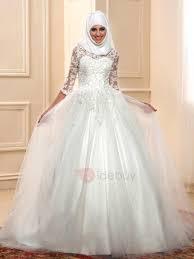 muslim wedding dresses islam lace gown muslim wedding dress with sleeves tidebuy