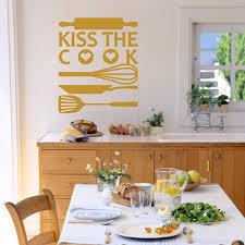 baise cuisine baiser le cuisinier vinyl sticker autocollant typographie mur