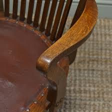 quality edwardian antique oak swivel office chair antiques world