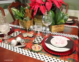 Christmas Plaid Table Runner by Christmas Around The Table Confettistyle