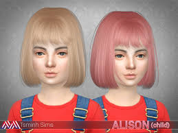 childs hairstyles sims 4 sims 4 hairs the sims resource alison hair 18 child by tsminh 3