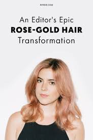 117 best rose gold images on pinterest hairstyles rose gold