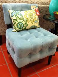 Light Blue Accent Chair Furniture Light Blue Velvet Accent Chair With Ruffle Pattern And