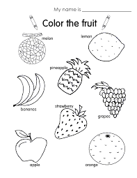 awesome fruit coloring worksheet free printable pages for kids