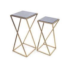 aubrey metal u0026 living room coffee drink occasional side end tables