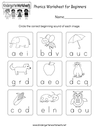 worksheet phonics for kindergarten wosenly free worksheet