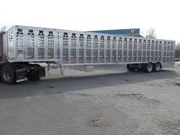 cattle trailer lighted sign 2018 barrett trailers 53ft ground loader livestock trailer lbs