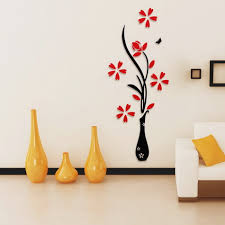 Creative Home Decor by Aliexpress Com Buy 3d Plum Vase Wall Stickers Home Decor