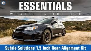 subaru lift kit subtle solutions 1 5 inch rear alignment kit 08 14 subaru wrx