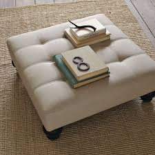 fabric ottoman coffee table essex ottoman west elm