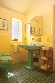 Vintage Bathroom Tile Ideas Colors 34 Retro Yellow Bathroom Tile Ideas And Pictures