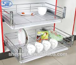 kitchen dish cabinet guangzhou factory supply kitchen cabinet design kitchen slide pull