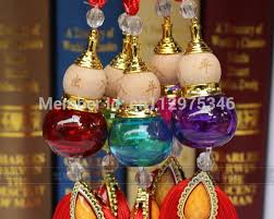 wholesale colorful perfume bottle empty glass gourd pendant